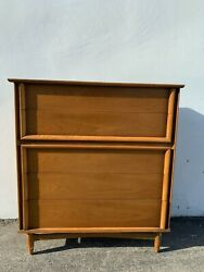 Mid Century Modern Dresser Chest Of Drawers Furniture Bedroom Storage Wood Tall