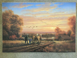 George Kovach And039 Thoughts Of Home And039- S/n Canvas Print W Coa- Autumn Scene