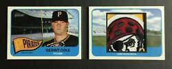 2014 Topps Heritage Gerrit Cole Esteemed Jersey Patch Book Pirates Logo 1/1 Ssp