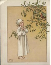 1880 Thought The Meadows- Illustrator Mary Ellen Edwards Signed Prints -