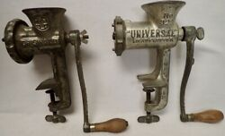 2 Vintage Kitchen Tools Griswold No.2 Grinder And Universal No.323 Meat Chopper