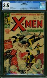 X-MEN #1 CGC 3.5 Origin & 1st app of the X-Men! 1st Magneto! 1963
