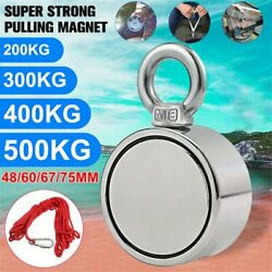 Heavy Duty Super Strong Pulling Force Round Fishing Magnet Max Load 1100lb/500kg