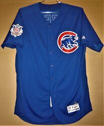 2017 Chicago Cubs Mike Borzello 58 Royal Blue Button-down Mlb Size 48 Jersey
