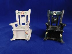Vintage Salt And Pepper Shakers Metal Rocking Chairs