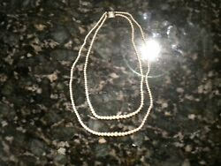 Antique Petite Double Strand Pearl Necklace Classy