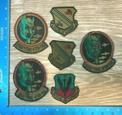 Vintage Lot Vietnam Usaf 356th Tactical Fighter Squadron Patch Patches 98a