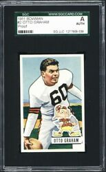 1951 Bowman 2 Otto Graham Proof - 2nd Year Card -- Sgc Authentic - Rare