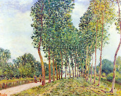 Alfred Sisley Banks Of The Loing In Moret 2 Artist Painting Handmade Oil Canvas