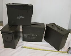 FOUR QTY - Tall 50 cal Ammo Cans!!  MADE IN USA  Free Shipping to the 48-States!