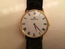 Vintage Jaeger Lecoultre Cal 818/2 14k Yellow Gold 17 Jewel Mechanical Watch