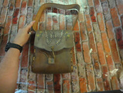 Beautiful leather purse bag with butterfly design maybe vintage estate find