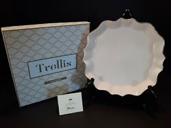 Rosanna Trellis Tray Scalloped 8.5 In. One Plate In Gift Box 98186 Msrp 39.99