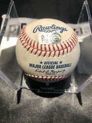 Victor Robles Mlb Game Used Double Baseball 8/18/19 Career Double 27 Nationals