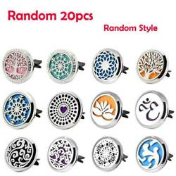20pc Random Essential Oil Diffuser Stainless Car Air Vent Freshener Aromatherapy