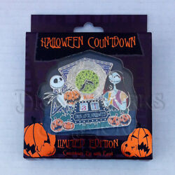 Disney Parks Nightmare Before Christmas Halloween Countdown Jack And Sally Pin