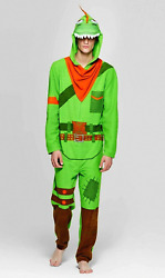 Fortnite Size Large Mens Union Suit One Piece Pajamas Rex Cosplay Costume Adult