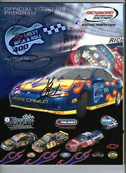 2004 Chevy Rock And Roll 400 Program W/ 6 Autographs Kasey Kahne Kevin Harvick