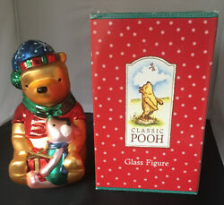 Classic Winnie The Pooh Glass Large Figure Christmas Midwest Of Cannon Falls Box