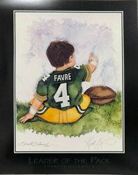 Brett Favre Leader Of The Pack By Kenneth Gatewood Green Bay Packers Poster 8x10
