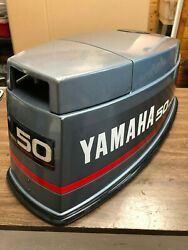 1990 Yamaha 50 Hp 2 Stroke Outboard Top Cowl Hood Cover Freshwater Mn