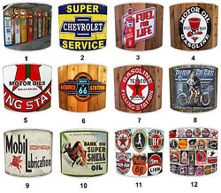Lampshades Ideal To Match Gasoline Oil Petrol Station Signs Wall Decals Cushions