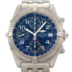 Free Shipping Pre-owned Breitling Chronomat A13350 Chronograph Limited Model
