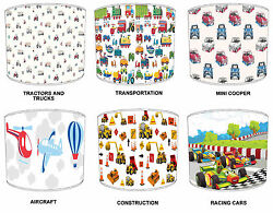 Transport Lampshades Ideal To Match Children`s Transportation Wallpaper Borders