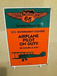 Vintage Pilot And Mechanic Reproduction Ande Rooney Porcelain Airplane Signs