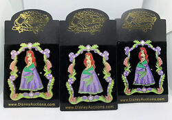 Disney Auctions Ariel Morphing Spinner Artist Proof Pin Set Of 3 Le 100 Htf