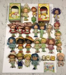 Vintage Strawberry Shortcake Doll Mixed Lot ATTACHED Hats 1980 AG Blossom Pets