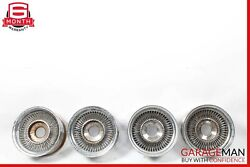 72-89 Mercedes R107 450sl 560sl Complete Front And Rear Wheel Rim Set Of 4 Pc 14x7