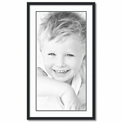 Arttoframes Matted 22x40 Black Picture Frame With 2 Double Mat 18x36 Opening