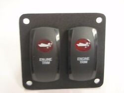 Engine Trim Tilt Switch V8d1a60b Psc21b Lighted Blk Red Lens Wired Sterndrive Io