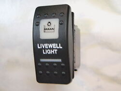 Livewell Light Switch Marine Boat V1d1 Black Carling Contura Ii 2 White Lighted