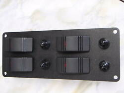 Panel With 4 Lighted Contura Carling Switch V1d1 Black Psbc22bk 10amp Breakers