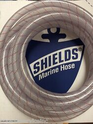 Hose Clear Pvc Tubing Red Tracer 5/8 88 1620586 24ft Marine Boat Water Ebay