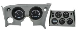68-77 Corvette Black Alloy & White Light Dakota Digital VHX Analog Gauge Kit