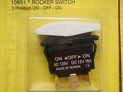 Rocker Switch White On Off On 3 Position Dpdt 10851 Dc 6 Terminal Rv Boat Parts