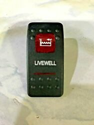 Actuator With 2 Red Lenses Livewell Pump For Carling V-series Base Switch Cover