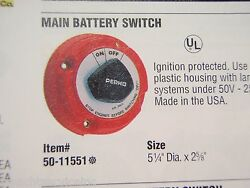 Battery Selector Switch Perko 11551 Battery 250a Main On/off Boat 1 Battery