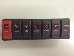 Carling Marine Boat Contura Switch Panel Custom 7 Switches Lighted Boat Electric