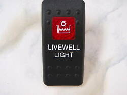 Contura Ii Switch Screened Livewell Light Off/on Lite Black Red Lens On/off