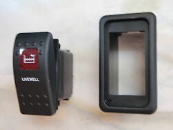 Livewell Pump Switch W/ Vms Boat Panel Carling V1d1 1 Red Lens Black Contura Ii