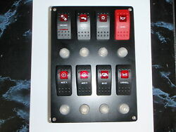 Switch Panel 8 Carling Contura Rocker Switches With Breakers Boatingmall Ebay