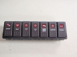 Contura Switch Panel Custom 7 Switches Lighted Screened Vme Vms Carling Switches