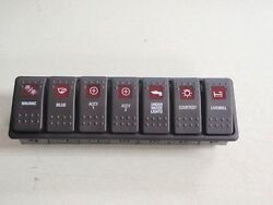 Switch Panel Custom 7 Switches Lighted Boat V1d1 Carling Contura Switches Ebay