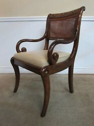 Theodore Alexander Althorp Regency Style Arm Chair, Dining, Library B