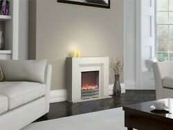 Warmlite York Fireplace Suite Realistic Led Flame - Choose Oak Ivory Or Beech