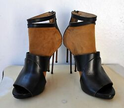 ACNE Gemini Suede Leather Sandal Booties Rusted Nail Heels Sz 40 Italy Sold Out!